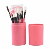 Brush set 12 kuas set in tube rias makeup tabung kuas makeup cantik
