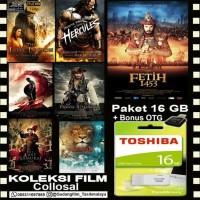 FLASHDISK TOSHIBA 16GB + KOLEKSI FILM COLLOSAL + OTG