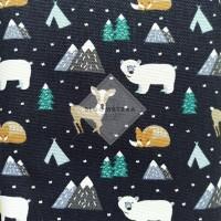 Kain Kanvas Polar Bear bahan canvas meteran motif beruang kutub fabric