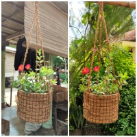 Pot gantung sabut kelapa go green pot jaring
