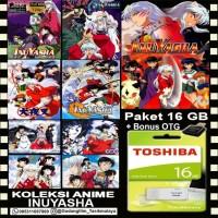 FLASHDISK TOSHIBA 16GB + KOLEKSI FILM INUYASHA + OTG