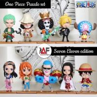 Action figure One piece Puzzle set 10pcs mugiwara crew Seven eleven ed