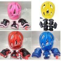 Helm sepeda anak motif bagus untuk anak cewek dan cowok model bogo