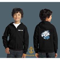 JAKET ZIPPER ANAK FREEFIRE EVOS HITAM-TOSCA - JAY KIDS CLOTHING 313 - tosca, S
