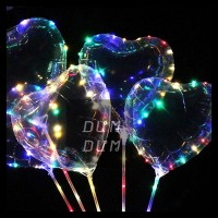 BALON LED LOVE HATI FULL WARNA WARNI LAMPU TUMBLR ULTAH ACARA DEKOR