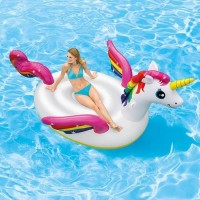 PELAMPUNG RENANG ANAK DEWASA UNICORN RIDE ON FLOATIES BAN RENANG
