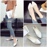 READY STOK JSH992-white Sepatu Casual Wanita Cantik Elegan 3CM