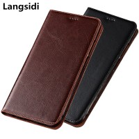 Genuine leather magnetic flip case coque for Nokia 8 Sirocco phone cas