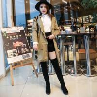 READY STOK JSH688-black Sepatu Boots Lutut Import Wanita Cantik