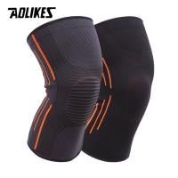 AOLIKES Pelindung Lutut Kaki Knee Support Olahraga Pad Braces Fitnes