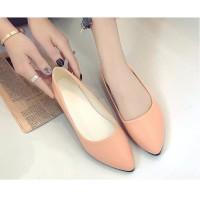 READY STOK JSH992-pink Sepatu Casual Wanita Cantik Elegan 3CM