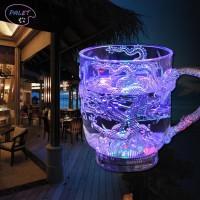 Asli Gelas Wine dengan Lampu LED Luminous