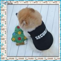 Asli Pakaian Anjing/Kucing Model Rompi Warna Hitam Untuk Musim Panas