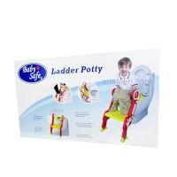 Baby Safe Step Ladder Potty . tangga pipis anak . toilet seat . tangga