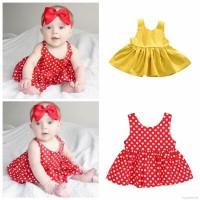 Asli Pakaian Bayi Perempuan: Gaun Tanpa Lengan Dengan Rok Mini Tutu Co