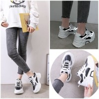 READY STOK JSHJ198-black Sepatu Sport Fashion Import Terbaru