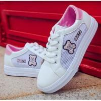 READY STOK JSS608-pink Sepatu Olah Raga Wanita Cantik Kekinian