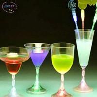 Limited Gelas Wine dengan Lampu LED Berubah Warna untuk KTV / Cocktail