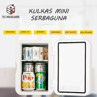 Kulkas Mini Portable 6L Kulkas Skincare Kulkas Anak Kos Kulkas Elektri - 6L