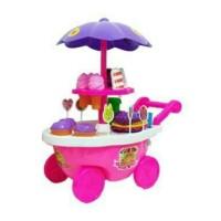 Cheapsale86 Srg 928 Mainan Anak Gerobak Es Krim Dorong/ Ice Cream Cart