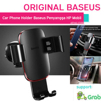 Baseus Penyangga Car Phone Holder Smartphone Handphone Mobil Original - Hitam