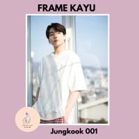 Poster frame kayu BTS Jungkook 1 UK A4