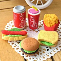Penghapus Lucu Mini Burger, French Fries, Donut dan Ice Cream