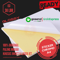 Kertas Stiker Chromo Glossy A4 - 30lbr / Kertas Stiker / Sticker Cromo