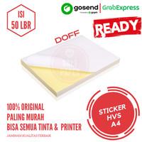 Kertas Stiker HVS A4 - isi 50 lbr / Kertas Stiker / Sticker HVS Doff
