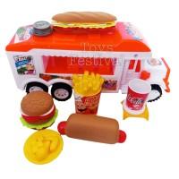 Mainan Set Food Truck Kendaraan Penjual Makanan