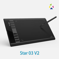 XP-Pen Star 03 V2 Graphics Digital Drawing Tablet with Passive Pen