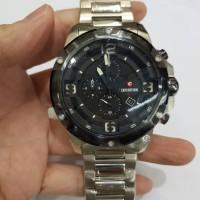 Jam tangan pria Expedition E 6698 E6698 silver black