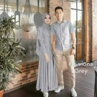 baju wanita couple pesta viona baju pasangan gamis maxi kemeja pria 1