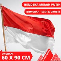 PROMO BENDERA MERAH PUTIH INDONESIA - UKURAN 60 CM X 90 CM READY STOCK