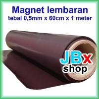Rubber magnet sheet lembaran roll hitam tebal 0.5mm x 60cm x 100cm