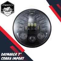 Daymaker Cobra 7 inch inchi Lampu 19 LED Motor BMW Harley Benelli XSR