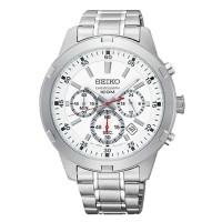 Jam Tangan Pria Seiko Neo Sport Chronograph Quartz White Dial SKS601P1