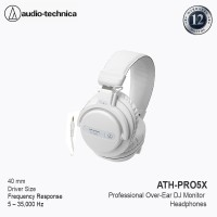 AudioTechnica ATH-PRO5X Professional Over-Ear DJ Monitor Headphones WH