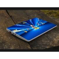 Stiker Laptop PC Notebook Garskin Pelindung Anti Gores Blue