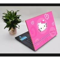 Stiker Laptop PC Notebook Garskin Pelindung Anti Gores HELLO KITTYPINK