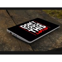 Stiker Laptop PC Notebook Garskin Pelindung Anti Gores warning