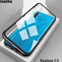 Case Magnet Magnetic Glass Casing Cover Realme C3