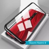 Case Magnet Magnetic Glass Casing Cover Xiaomi Redmi 8 / redmi 8A