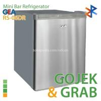 Kulkas Mini Portable GEA RS-06DR Silver Gojek / Grab Instant