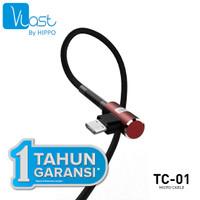 Hippo Vlast Kabel MicroUSB 100cm TC-01 - Vlast TC-01 Micro USB - Merah