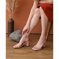 Sandal Wanita Hak Chunky Tali Slempang Stella HT82