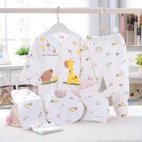 Bayi Baru Lahir Lengan Panjang Bayi Set Baju 0-3 Bulan (5 in 1) V07 - putih kuning, 0-3 Bulan