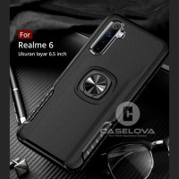 Case REALME 6 Hardcase Ring Carbon Thunder