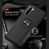Case REALME 6 PRO Hardcase Ring Carbon Thunder