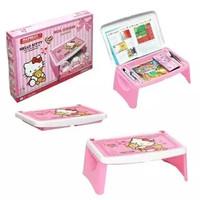 Meja Belajar Anak + Laci Lipat Lesehan Karakter Hello Kitty Napolly